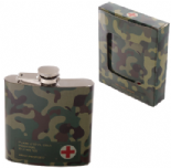 Stainless Steel 6oz Camouflage Hip Flask